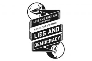 Lies and the Law event flyer