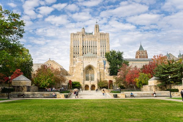 Sterling Memorial Library at Yale University. Located in the heart of today's Central Campus, the Sterling Memorial Library is one of Yale's most prominent buildings.